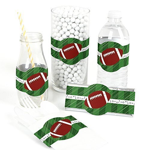 End Zone - Football DIY Party Wrapper Favors - Set of 15