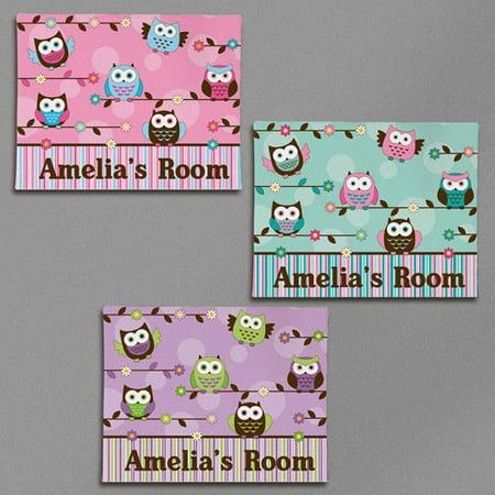 Personalized Colorful Owl Canvas