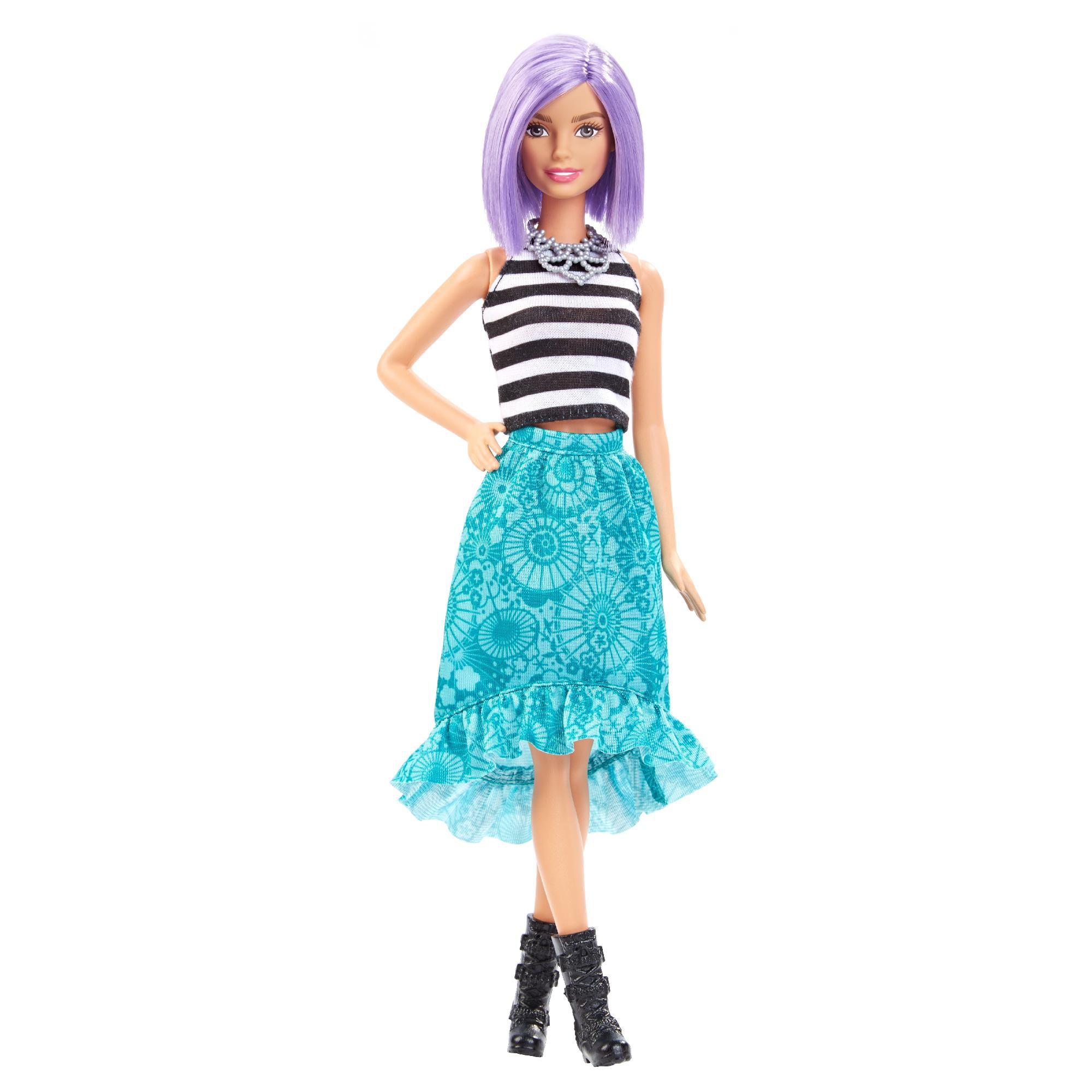 Barbie Fashionistas Doll Va va violet Original Body Violet Hair