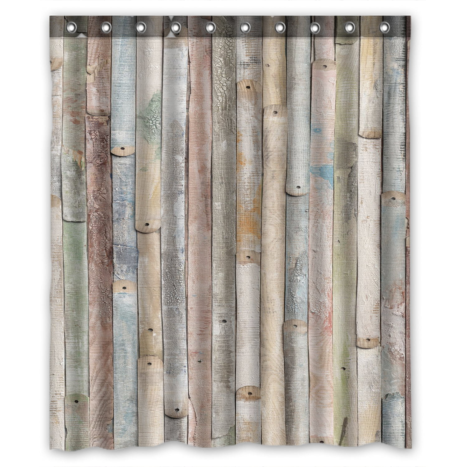 70 Inches Pink Brown Fabric Bathroom Decor Set with Hooks Sweet Spring Flowering Branch on Weathered Wooden Blooming Orchard Ambesonne Rustic Home Decor Shower Curtain