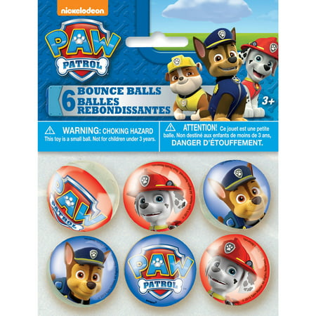 PAW Patrol Bouncy Ball Party Favors, - Paw Patrol Party