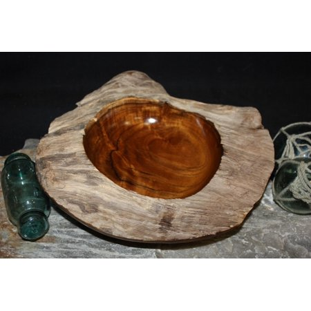 Root Bowl Island Home Decor (Rustic Teak Wooden Bowl 11
