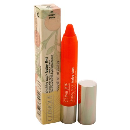 Chubby Stick Baby Tint Moisturizing Lip Colour Balm - # 01 Poppin Poppy by Clinique for Women - 0.08