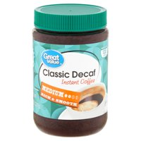 Great Value Classic Decaf Medium Instant Coffee, 8 oz