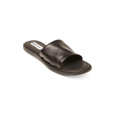 a011df54def Steve Madden Womens Camilla Leather Open Toe Casual Slide Sandals