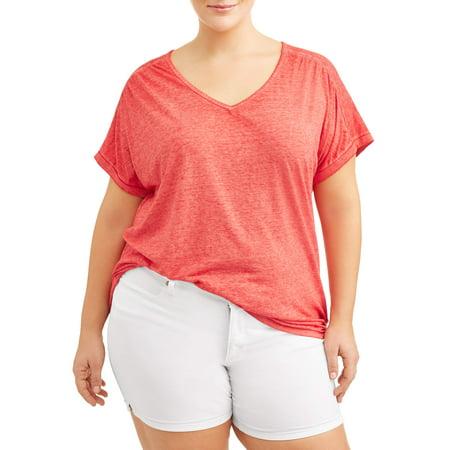 Plus Size Skeleton Shirt (Women's Plus Size Cap Sleeve)