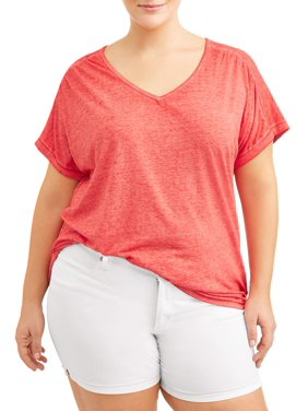 67cdc016ecc1f Product Image Women s Plus Size Cap Sleeve Tee