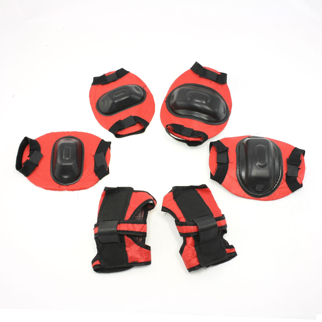 Multi Sports Protective Gear Wrist Support Guard Elbow Knee Pads Set For Children by Unique-Bargains