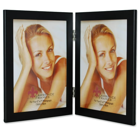 Double Photo Frame (Black 5x7 Hinged Double Metal Picture)