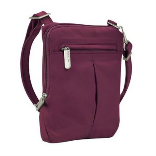 8d01c094ab Travelon - Travelon Anti-Theft Classic Light Slim Mini Crossbody Bag-Berry  Anti-Theft Classic Light Slim Mini Crossbody Bag - Walmart.com