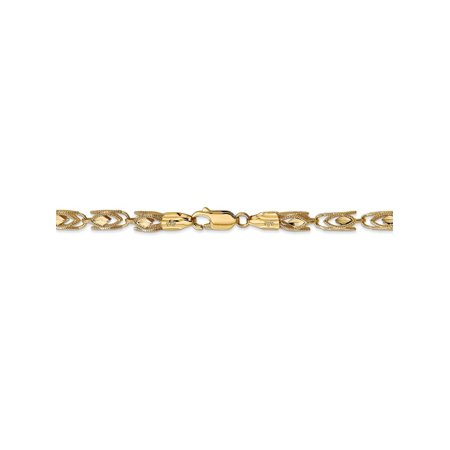 14k Marquise Necklace - 4 mm 14k Yellow Gold Marquise Rope Chain Necklace - 20 Inch