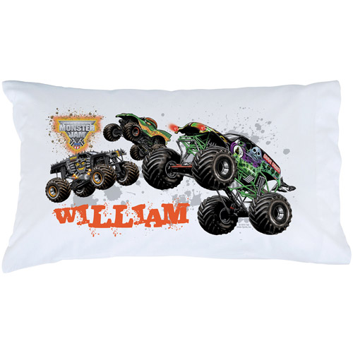 Personalized Monster Jam Start Your Engines Pillowcase by Monster Jam
