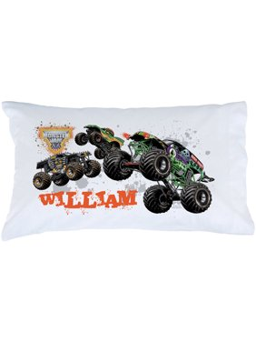 Personalized Monster Jam Start Your Engines Pillowcase