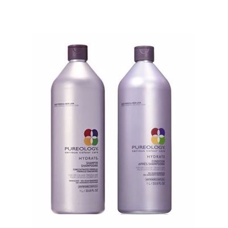 Pureology Hydrate Shampoo & Conditioner Liter Duo Set, 33.8 Oz
