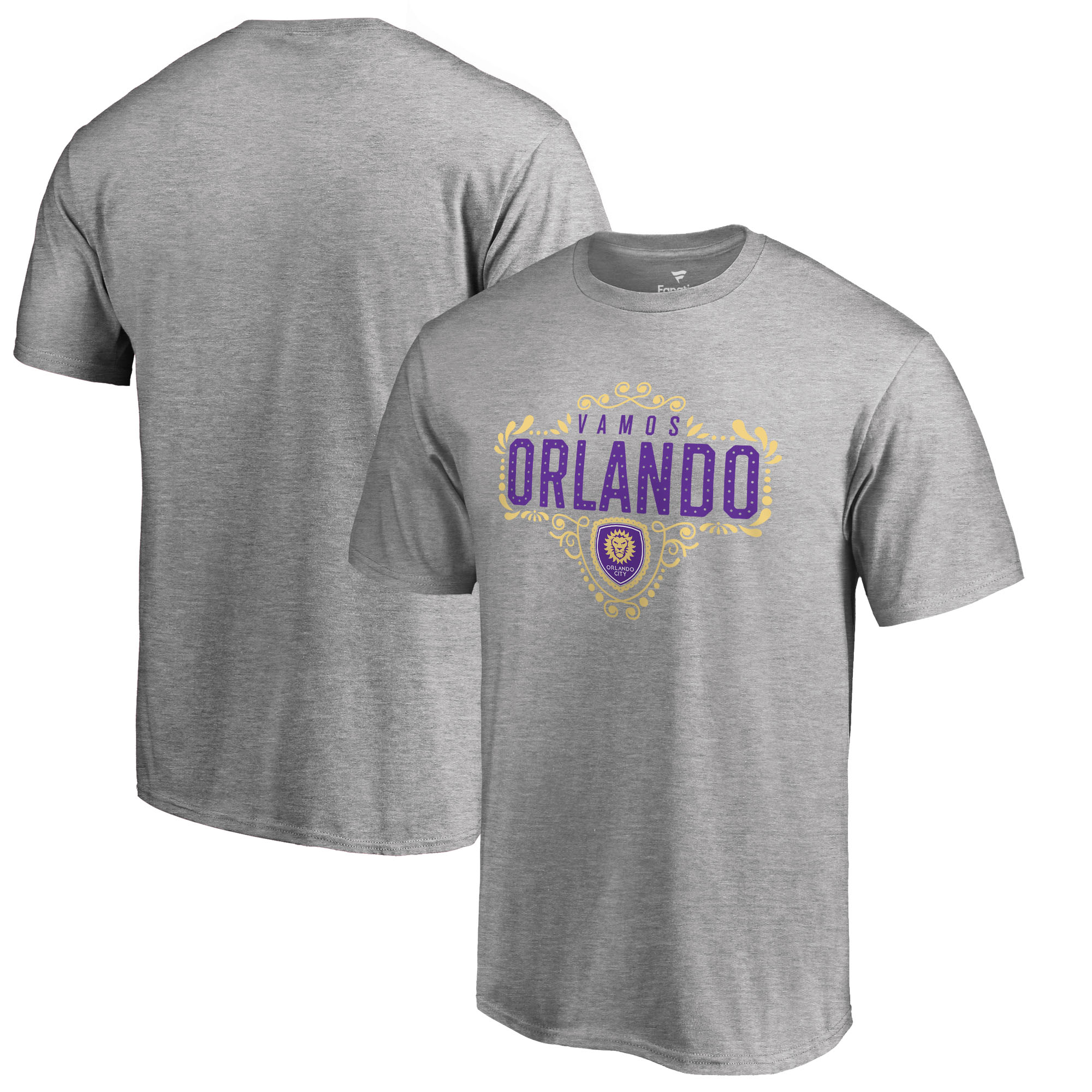 Orlando City SC Fanatics Branded Big & Tall Hometown Collection T-Shirt - Heathered Gray