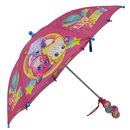 Umbrella - Shopkins - SPK Let's Party Pink Clamshell Handle Kids/Girl New 281882