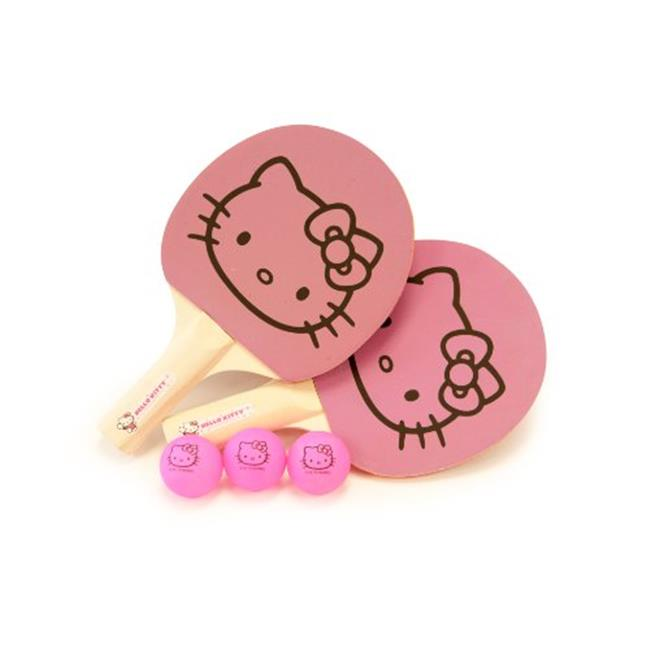 MMA Holding Group, Inc HKS-PP. START. SET Hello Kitty Sports Ping Pong Starter Set - 2 Paddle, 3 Balls