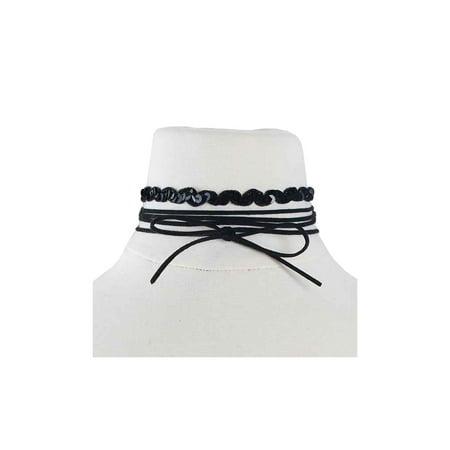 Womens Spangle W  Suede String Layered Fashion Casual Choker MDS0056 6ecf1e1078
