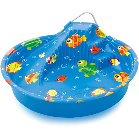Summer escapes 70 wading pool with slide blue for Plastik pool rund