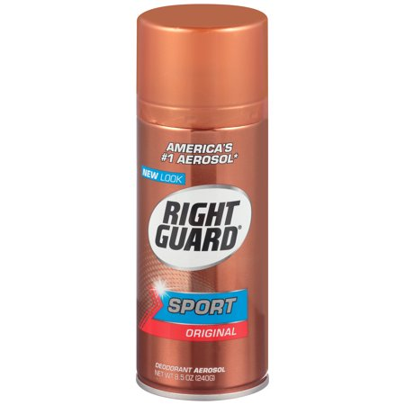 (2 pack) Right Guard Sport Deodorant Aerosol Spray, Original, 8.5 Ounce