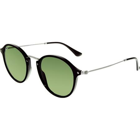 Ray-Ban Women's Polarized Round Fleck RB2447-901/58-49 Green Sunglasses