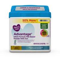 Parent's Choice Advantage Non-Gmo* Infant Formula Milk-Based Powder, 35 oz, 4 Pack