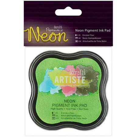 Artiste Neon Pigment Ink Pad-Green (Artiste Refill)