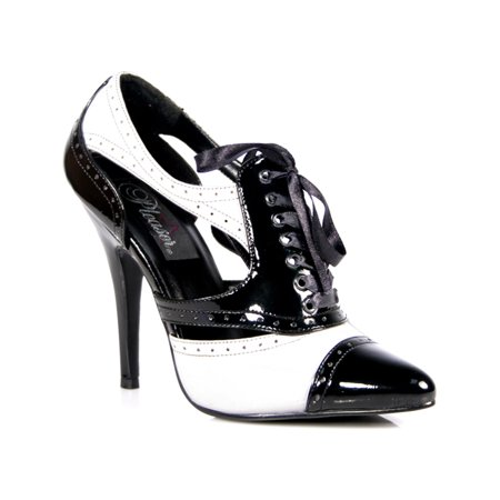 Heel Dorsay Pump - Womens Spectator Shoes Oxford Pumps 5 Inch Heels Black White Lace Up Dorsay