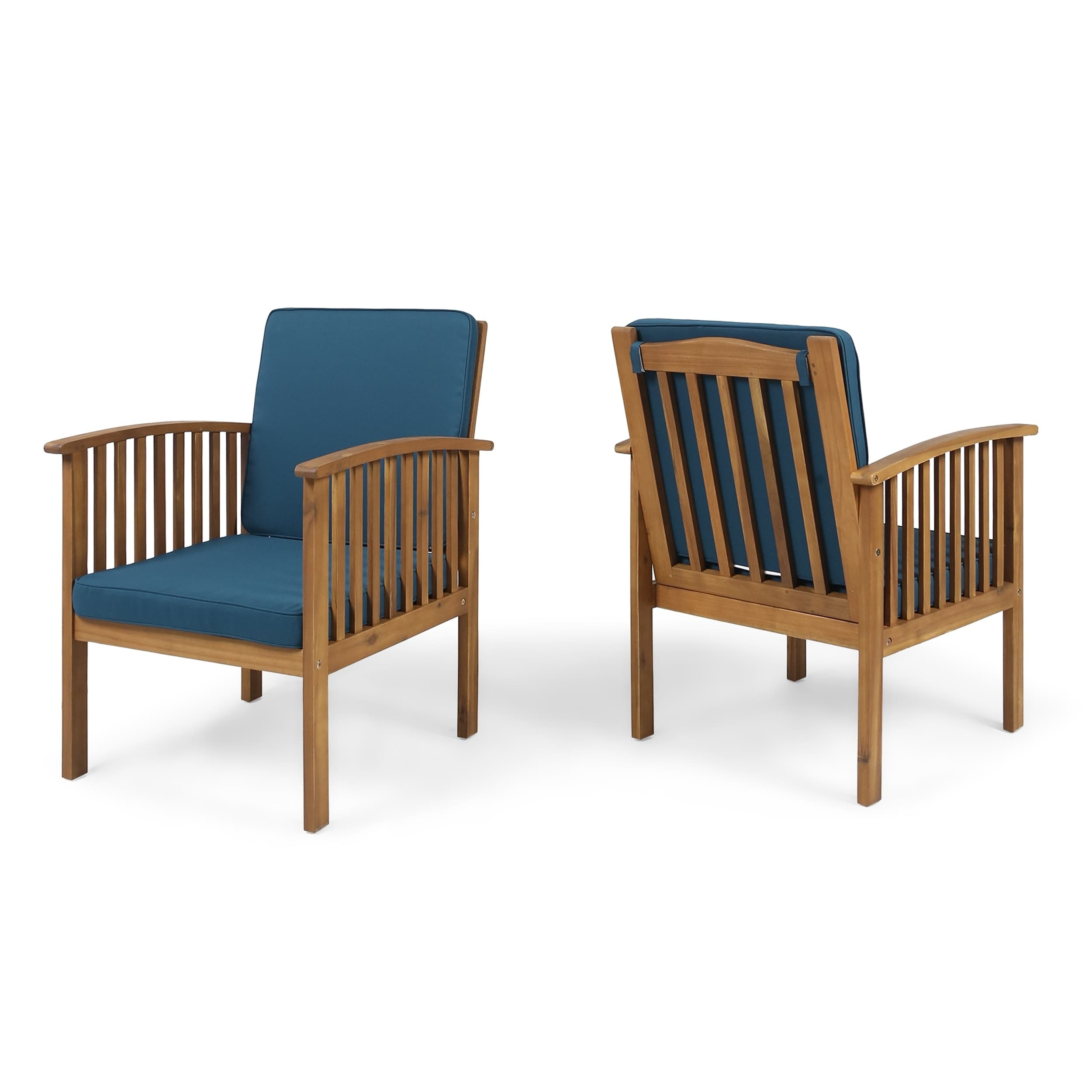 Christopher Knight Home Casa Acacia Outdoor Acacia Wood Club Chairs(Set of 2) by
