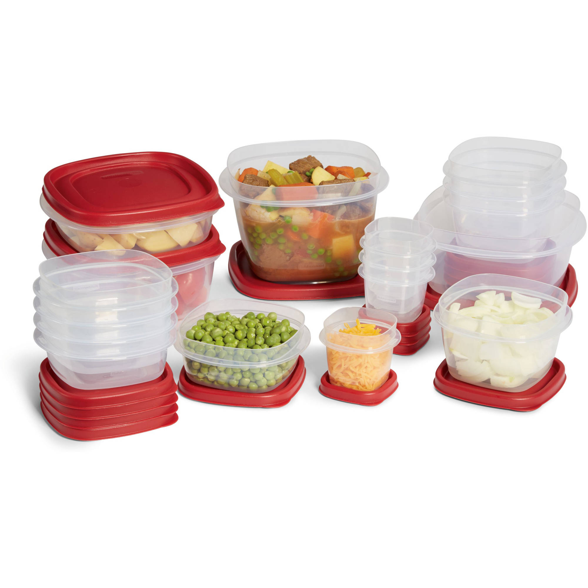 Rubbermaid Easy Find Lids 34-Piece Set, Red