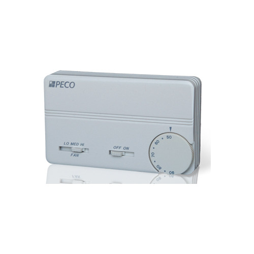 Peco Controls Heating or Cooling Thermostat w/ 3-speed Fa...