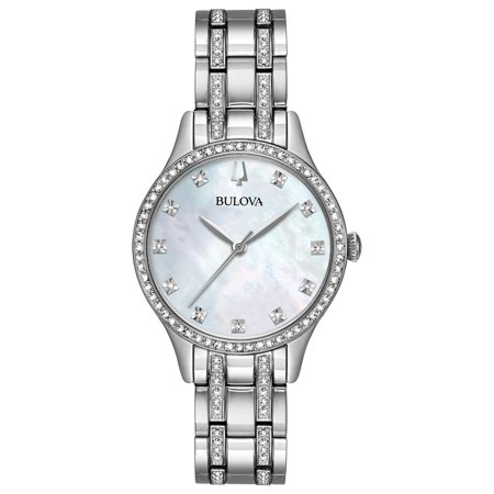 Bulova Women's Crystal Watch Box Set with Bangle Bracelets 96X145
