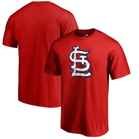 St. Louis Cardinals Fanatics Branded Splatter Logo Big and Tall T-Shirt -