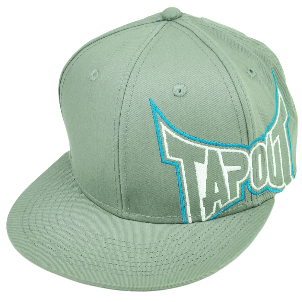 Tapout MMA UFC Mixed Martial Arts Snapback Gray Flat Bill Hat Cap Cage Fighting