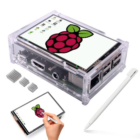 TSV 3.5 Inch TFT Touch Screen, 320x480 Resolution LCD Display 3Heat Sinks and Touch Pen for Raspberry Pi 3 Model B, Pi 2 Model B & Pi Model B