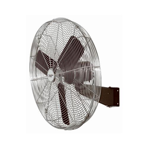 Comfort Zone Industrial 30'' Wall Mount Fan with Oscillation