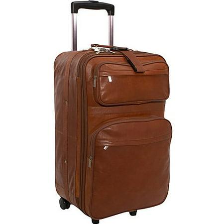 Leather 25 Expandable Wheeled Suitcase