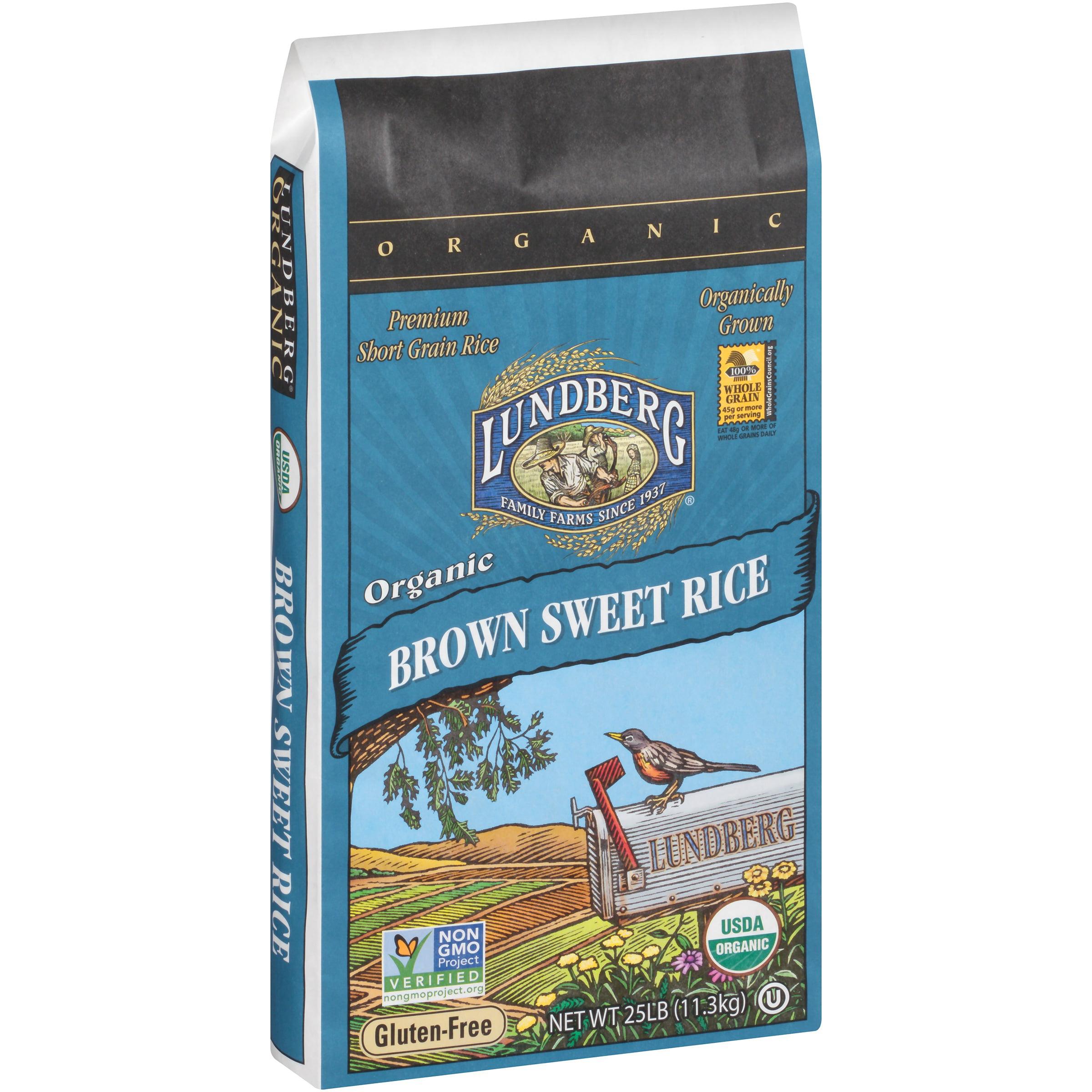 Lundberg Organic Brown Sweet Rice 25 lb. Bag