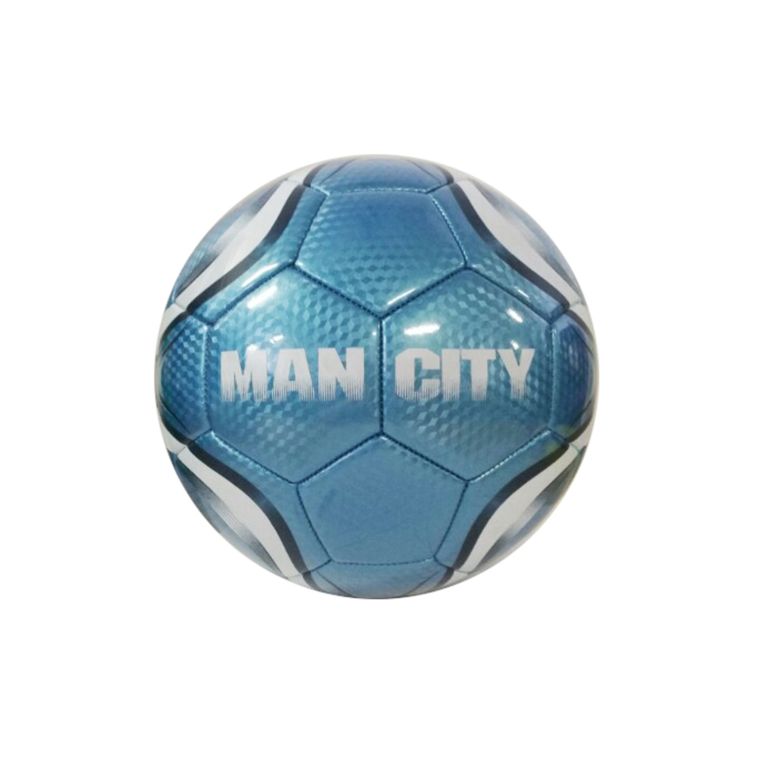 Manchester City Silver #5 Soccer Ball by Supplier Generic