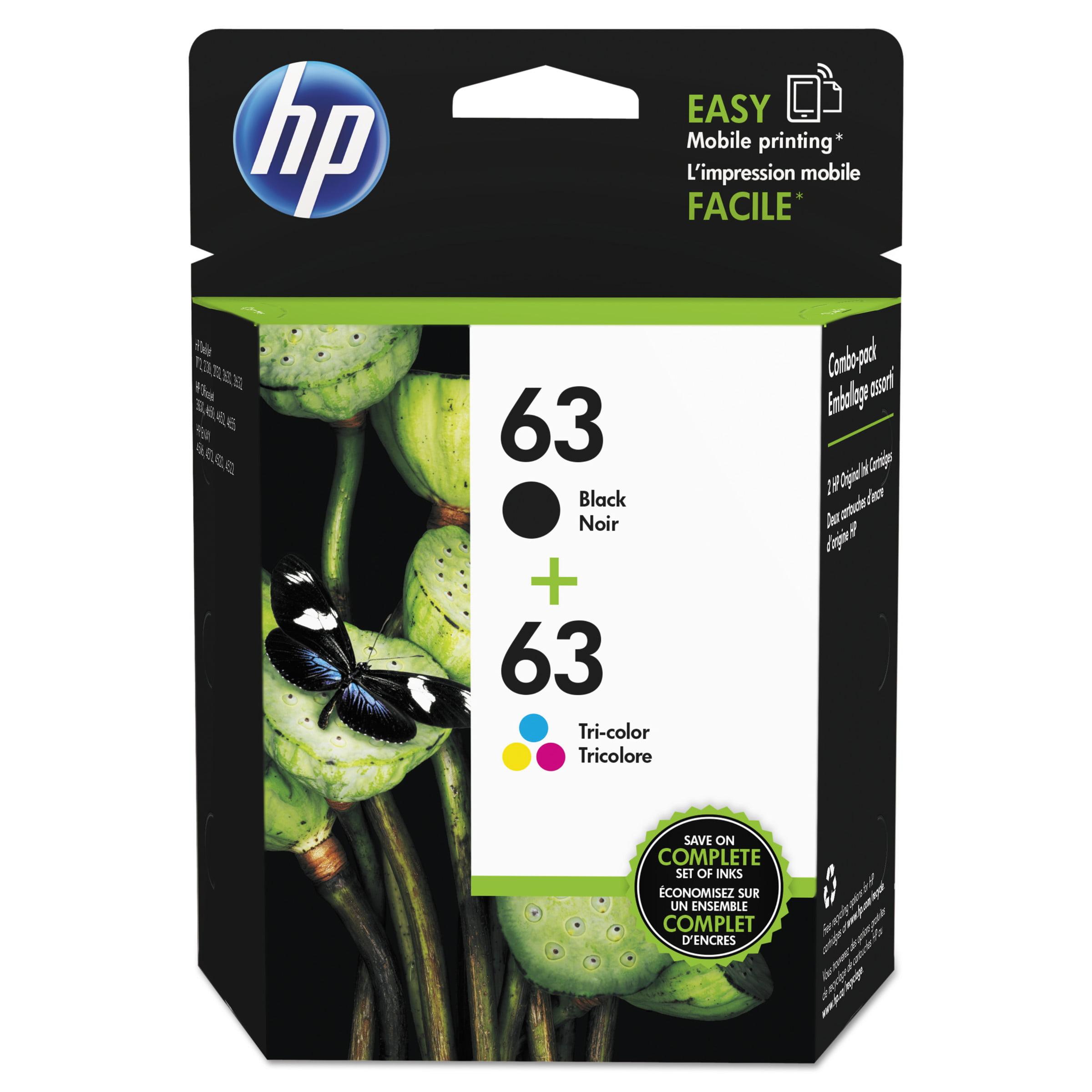 HP HP 63, (L0R46AN) 2-pack Black/Tri-Color Original Ink Cartridges