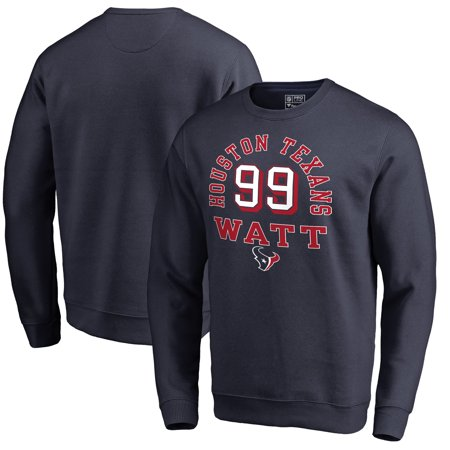 JJ Watt Houston Texans NFL Pro Line by Fanatics Branded Team Elite Player  Name   Number Crew Pullover Sweatshirt - Navy - Walmart.com 5b32f1bbe