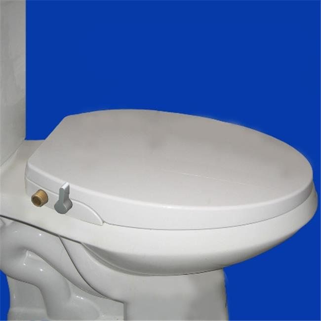Blue Bidet BB-6000 Toilet Seat Bidet Elongated, White