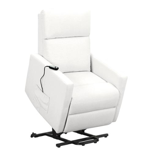 prolounger tuff stuff white synthetic leather power lift