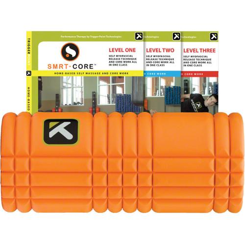 Trigger Point Ultimate Grid Roller and 3 DVD Package: 13-inch Roller Orange