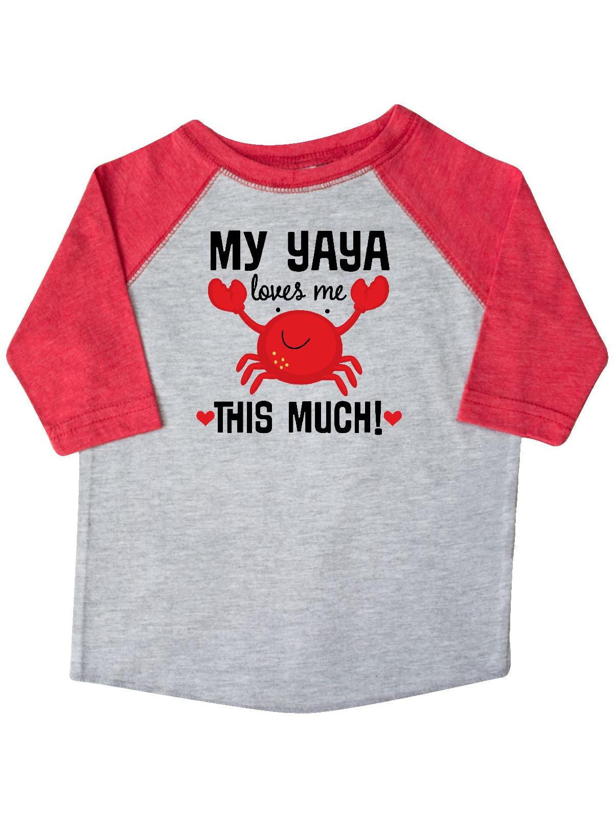 Yaya Loves Me Grandson Gift Toddler T-Shirt