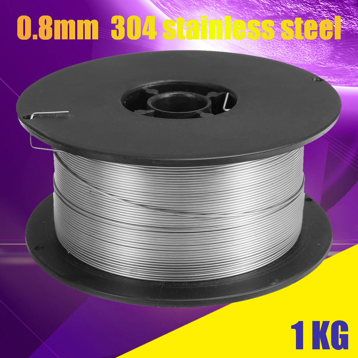 Stainless Steel MIG Welding Wire Reel Spool ROLL Solid CORE Gas Hobby 0.8mm 1KG
