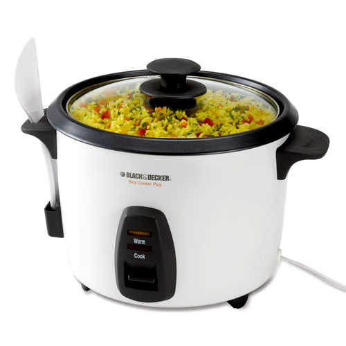 Black & Decker 16-Cup Rice Cooker, White, RC436