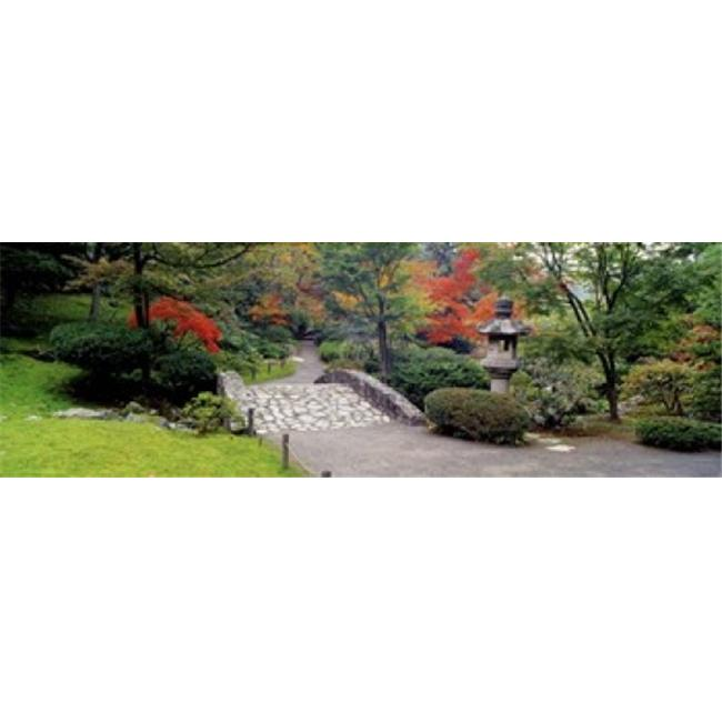 Panoramic Images PPI68926L Stone Bridge  The Japanese Garden  Seattle  Washington State  USA Poster Print by Panoramic Images - 36 x 12 - image 1 of 1