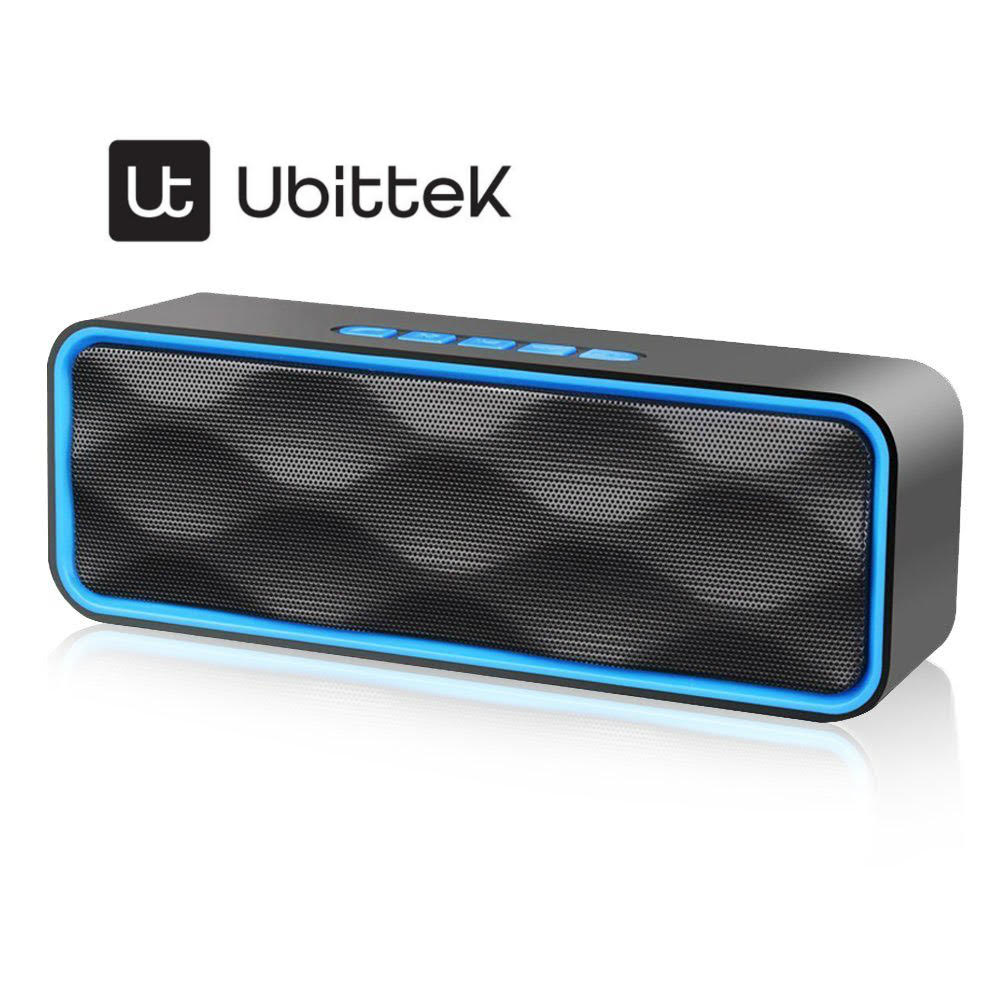 Wireless Bluetooth Speaker, Wireless Speaker Outdoor Portable Stereo Speaker HD Audio and Enhanced Bass, Built-In Dual Driver Speakerphone, Bluetooth 4.2, Handsfree Calling, FM Radio