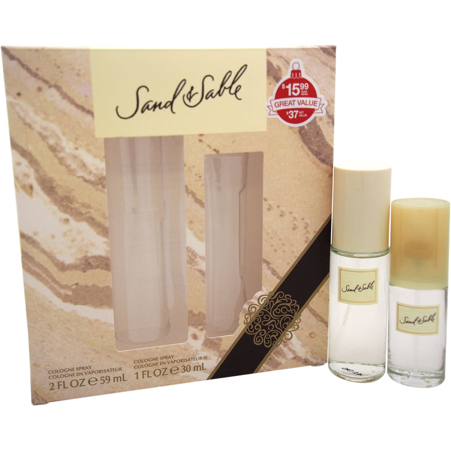 Coty Sand & Sable for Women Fragrance Gift Set, 2 pc